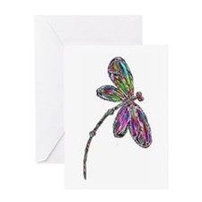 DragonflyNeon Greeting Card