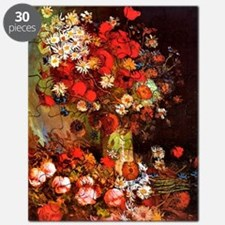 Van Gogh - Vase with Poppies, Cornflowers,  Puzzle