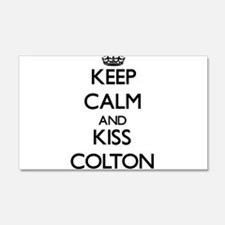 Keep Calm and Kiss Colton Wall Decal