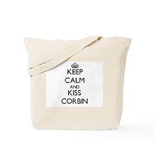 Keep Calm and Kiss Corbin Tote Bag