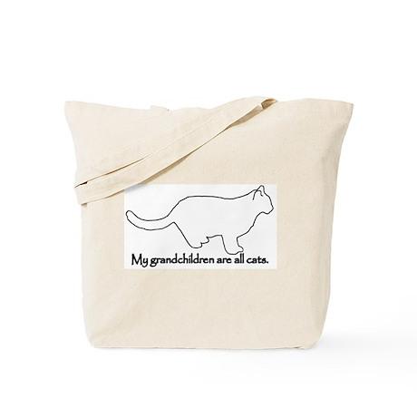 Grandchildren are Cats Tote Bag