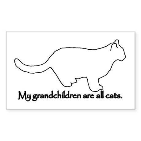 Grandchildren are Cats Rectangle Sticker