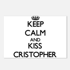 Keep Calm and Kiss Cristopher Postcards (Package o