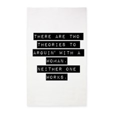 There Are Two Theories 3'x5' Area Rug
