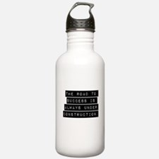 The Road To Success Water Bottle