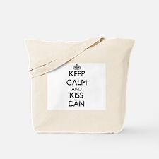 Keep Calm and Kiss Dan Tote Bag
