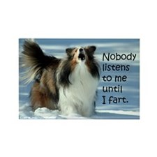 Sheltie Fart Rectangle Magnet