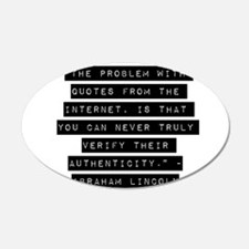 The Problem With Quotes Wall Decal