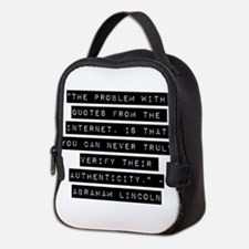 The Problem With Quotes Neoprene Lunch Bag