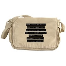 The Problem With Quotes Messenger Bag