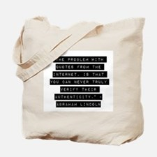 The Problem With Quotes Tote Bag