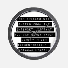 The Problem With Quotes Wall Clock