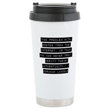 The Problem With Quotes Travel Mug
