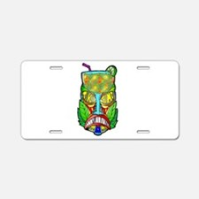 Its Tiki Time Aluminum License Plate