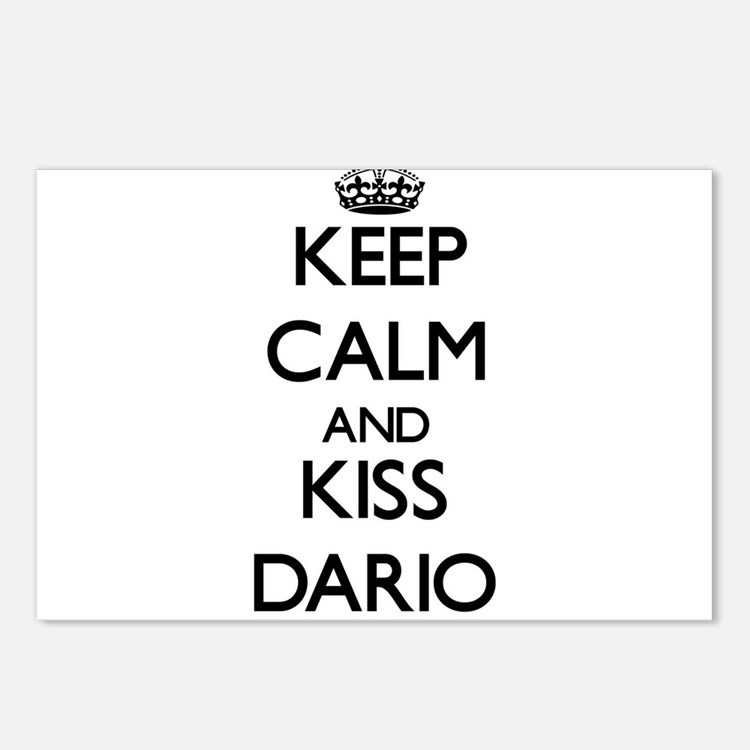 Keep Calm and Kiss Dario Postcards (Package of 8)