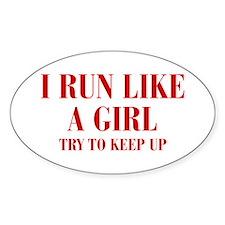 I-run-like-a-girl bod Decal