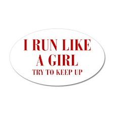 I-run-like-a-girl bod Wall Decal
