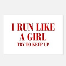 I-run-like-a-girl bod Postcards (Package of 8)