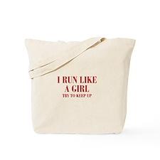 I-run-like-a-girl bod Tote Bag