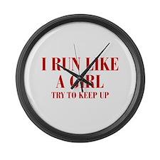 I-run-like-a-girl bod Large Wall Clock