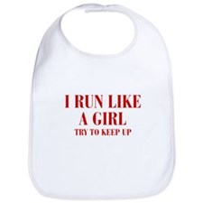 I-run-like-a-girl bod Bib