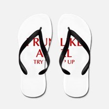 I-run-like-a-girl-OPT Flip Flops