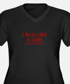 I-run-like-a-girl-OPT Plus Size T-Shirt