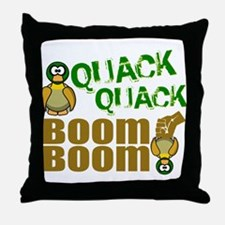 Quack Quack Boom Boom Throw Pillow