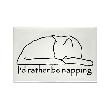 Rather be Napping Rectangle Magnet