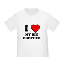 I Heart My Big Brother T-Shirt