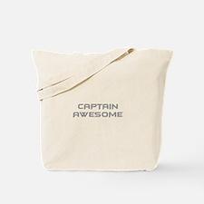 captain-awesome-BAT-GRAY Tote Bag
