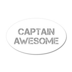 captain-awesome-CAP-GRAY Wall Decal