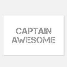 captain-awesome-CAP-GRAY Postcards (Package of 8)