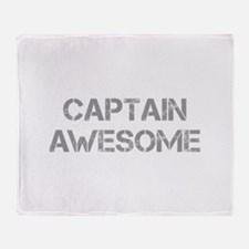 captain-awesome-CAP-GRAY Throw Blanket