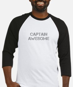 captain-awesome-CAP-GRAY Baseball Jersey