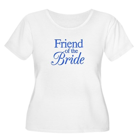 Friend of the Bride (blue) Women's Plus Size Scoop