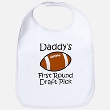 Daddys First Round Draft Pick Bib