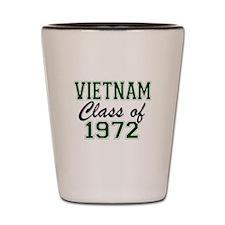 Vietnam Class of 1972 Shot Glass