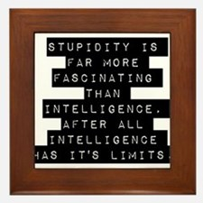Stupidity Is Far More Fascinating Framed Tile