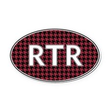 Rtr Oval Car Magnet