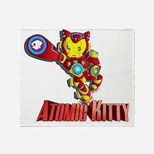 Atomic Kitty Throw Blanket
