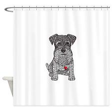 Spunk - Schnauzer Shower Curtain