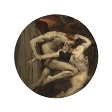 """Dante and Virgil in Hell 3.5"""" Button"""