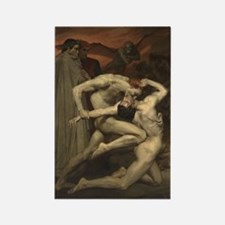 Dante and Virgil in Hell Rectangle Magnet