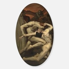 Dante and Virgil in Hell Sticker (Oval)