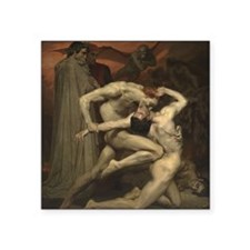 """Dante and Virgil in Hell Square Sticker 3"""" x 3"""""""
