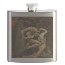 Dante and Virgil in Hell Flask