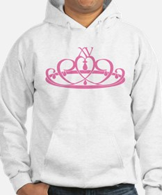 Quince Anos XV Tiara Hoodie
