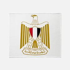 Egypt Flag Eagle Throw Blanket