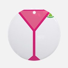 Pink Cocktail With Lime Ornament (Round)